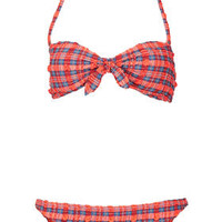 Red Check Bandeau Bikini - New In This Week  - New In