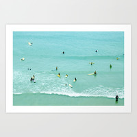 Surfing vintage. Summer dreams Art Print by Guido Montañés