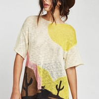 Bright Sunset Western Lacy Sweater