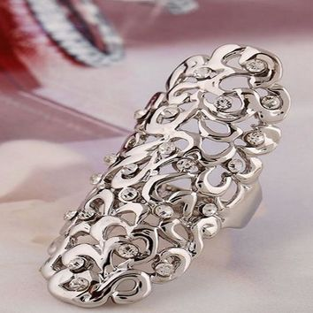 Fashion Charming Joint Full Finger Knuckle Armor Double Ring(Adjustable)