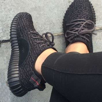 """Adidas"" Women Yeezy Boost Sneakers Running Sports Shoes F black"