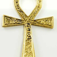 Ankh brass 2 3/8 x4 [FANKS] - $6.95 : Magickal Products, Crystals, Tarot Decks, Incense, and More!