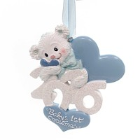 Holiday Ornaments Baby's 1St Christmas 2016 Bear Resin Ornament
