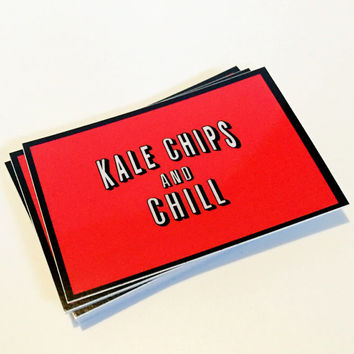 Kale Chips And Chill Netflix Sticker Laptop Decal