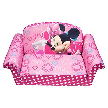 Marshmallow Furniture Minnies Bow-Tique Flip Open Sofa