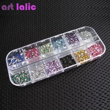 3000pcs 1.5mm Rhinestones Nail Decoration Round Colorful Glitters Art Decorations