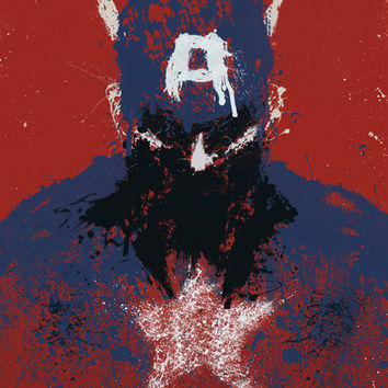 Captain America art print by purplecactusdesign on Etsy