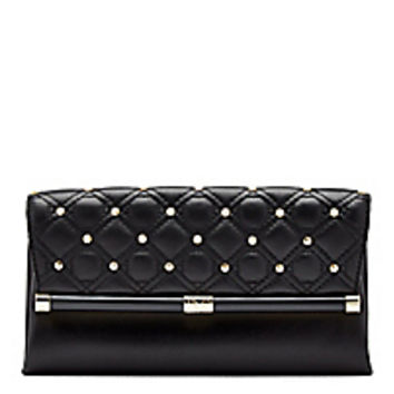 DVF 440 Envelope Studded Quilted Leather Clutch