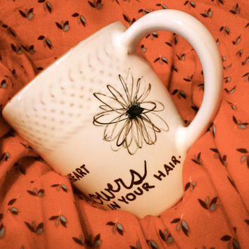 "Mumford & Sons (After the Storm) ""Grace in your heart and flowers in your hair"" Hand-designed Mug"