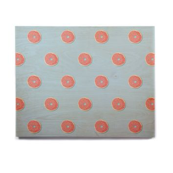 "Busy Bree ""Donut Dreams"" Coral Food Birchwood Wall Art"