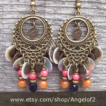Fruit Market - Gypsy Chandelier Beaded Dangle Earrings