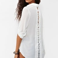 Laced Tail Blouse - White in  Clothes Tops Shirts + Blouses at Nasty Gal