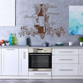 Wine Pleasure Wall Decal