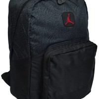 Nike Air Jordan Backpack Black Red Elephant School Book Bag Men Women Boys Girls
