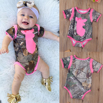 Newborn Infant Baby Girls Boys Clothes Bodysuit Short Sleeve Cotton Jumpsuit Playsuit Tops Outfits Baby Girl Clothing