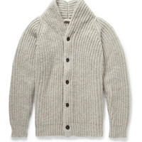 Massimo Alba - Chunky Mouline-Wool Shawl-Collar Cardigan | MR PORTER