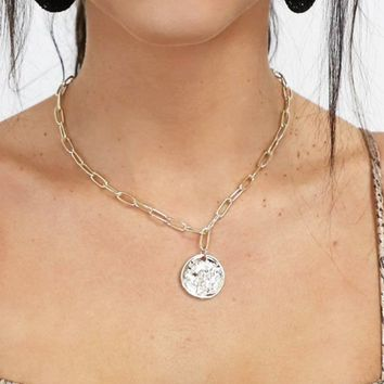 Hold Up Gold Circle Chain Necklace