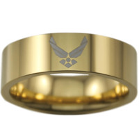 Gold Tungsten USAF Ring