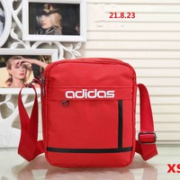 ADIDAS 2018 new trend of men and women stylish wild leisure backpack F-XS-PJ-BB Red