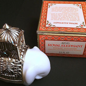 Vintage Avon Royal Elephant Collectible Bottle with Topaze Cologne 1.5 oz, NIB
