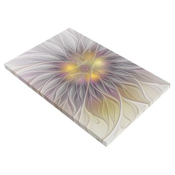 Luminous Colorful Flower, Abstract Modern Fractal Gallery Wrap