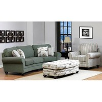 Chelsea Choctaw Three Piece Living Room Set In Hampstead Cerulean