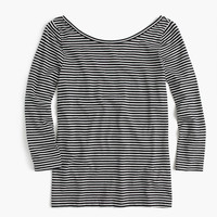 Three-quarter sleeve ballet T-shirt in stripe