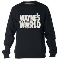 Wayne's world Sweatshirt Sweater Crewneck Men or Women Unisex Size