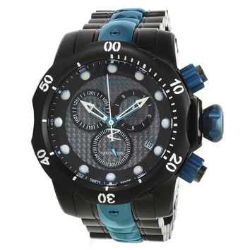 Invicta 15461 Men's Venom Reserve Carbon Fiber Black Dial Two Tone Bracelet Chrono Dive Watch