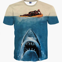 Deadpool VS Jaws Shirt