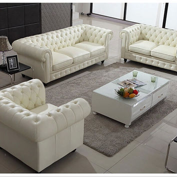 U-BEST warren white eather modern modular sectional sofa set, premium top-grain leather  sofa, living room furniture collection