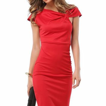 B  Chicloth Sexy Women Capped Sleeve Work Business Mini Dresses