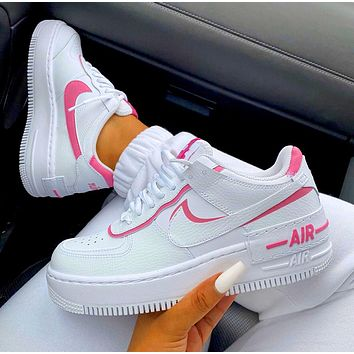 Nike Air Force 1 AF1 Low-Top Joker Flat Sneakers Shoes Color Add to edge Pink