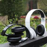 Fashion Wireless Bluetooth Headphone Headset with FM SD for iPhone Samsung Smartphone = 1842977476