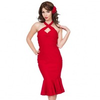 Steady Clothing Cherry Dollface Wiggle Dress | Pin Up Rockabilly