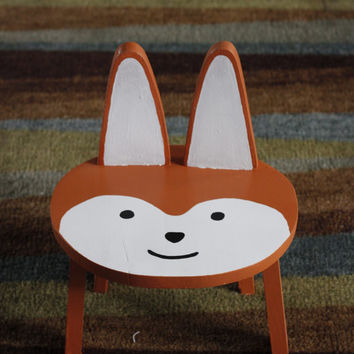Kid's Animal Stool/Chair {Fox}