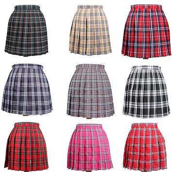Harajuku 2018 Plaid Skirt Saia Xadrez Women High Waist Casual Wind Cosplay Pleated Skirt Kawaii Student Skirts Plus Size XS-3XL