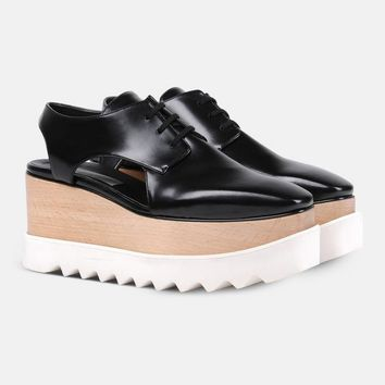 Black Elyse Cut Out Shoes - Stella Mccartney