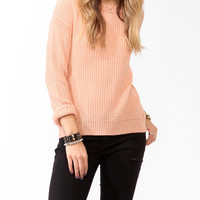 Ribbed Dropped Shoulder Sweater