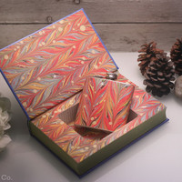 Hollow Book Safe & Marbled Flask - Pride and Prejudice (LEATHER BOUND)