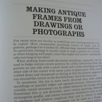 Vintage book called Picture Framing a practical guide from Basic to Baroque by Desmond Mac Namara