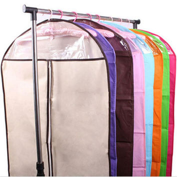 Dust bag thickened woven suits coats dust storage transparent suitcase clothing dust cover pouch cover clothes