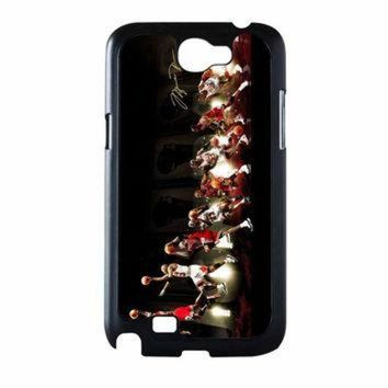 DCKL9 Michael Jordan NBA Chicago Bulls Dunk Samsung Galaxy Note 2 Case