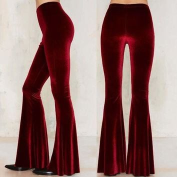 ac VLXC Casual Pants Hot Sale Star Stretch Velvet Slim Stylish Loudspeaker [10153515660]