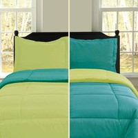U.S. Polo Assn Lime & Turquoise Twin Comforter Set by U.S. Polo Assn Bedding: The Home Decorating Company