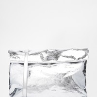 Monki Kim Bag in Cracked Silver