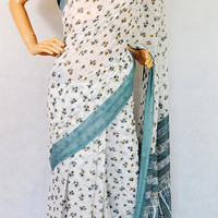 Off White & Grey Hello Madam Exclusive Fancy Saree
