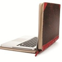 Twelve South (12-1004) BookBook, Hardback Leather Case for 15-inch MacBook Pro (Red)