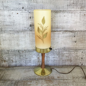 Table Lamp Hollywood Regency Lamp Mid Century Decorative Table Lamp Retro Lamp Plastic Shade with Light 1970s Nightlight Vintage Lighting