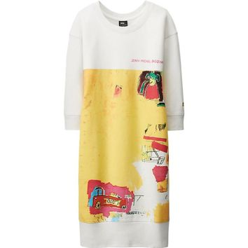WOMEN SPRZ NY SWEAT DRESS (JEAN-MICHEL BASQUIAT) | UNIQLO